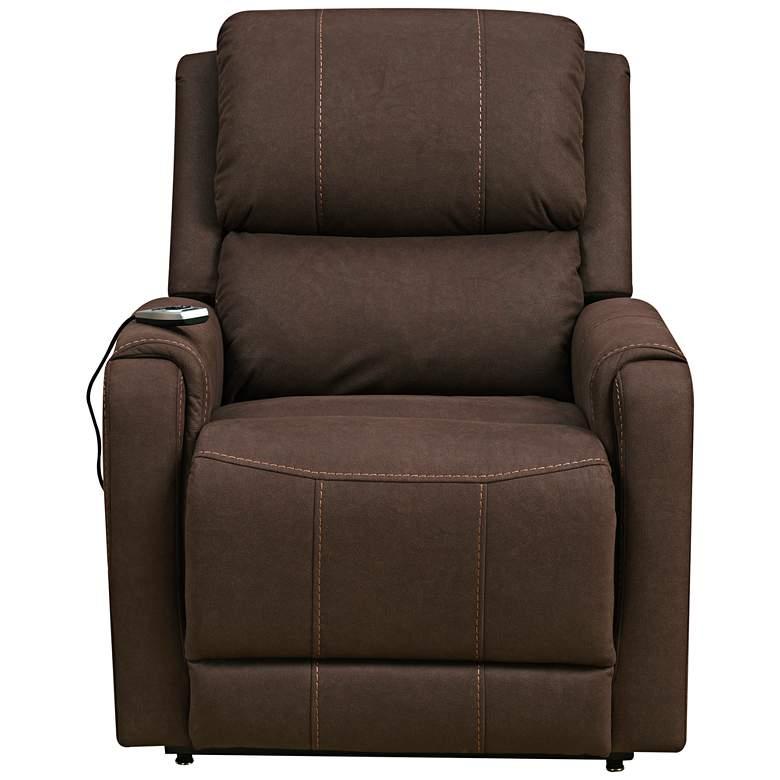 Cameron Brown Fabric Heat and Massaging Recliner Lift