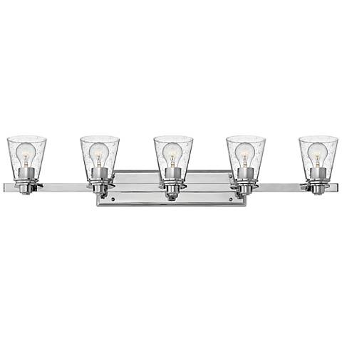 "Hinkley Avon 40 1/4"" Wide Chrome 5-Light Bath Light"
