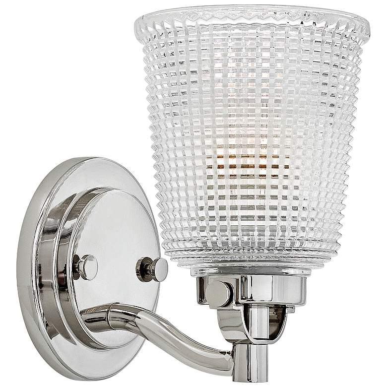 """Hinkley Bennett 9"""" High Polished Nickel Wall Sconce"""