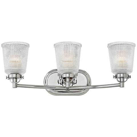 "Hinkley Bennett 24 1/4""W Polished Nickel 3-Light Bath Light"