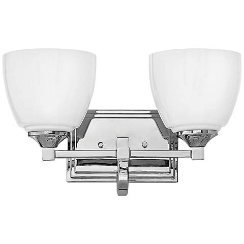 "Hinkley Faye 8 3/4"" High Chrome 2-Light Wall Sconce"