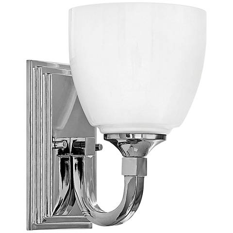 "Hinkley Faye 8 3/4"" High Chrome Wall Sconce"