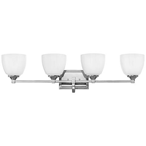 "Hinkley Faye 33 1/4"" Wide Chrome 4-Light Bath Light"