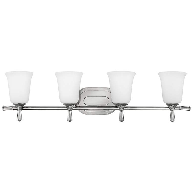 "Hinkley Blythe 33 3/4""W Polished Nickel 4-Light Bath"