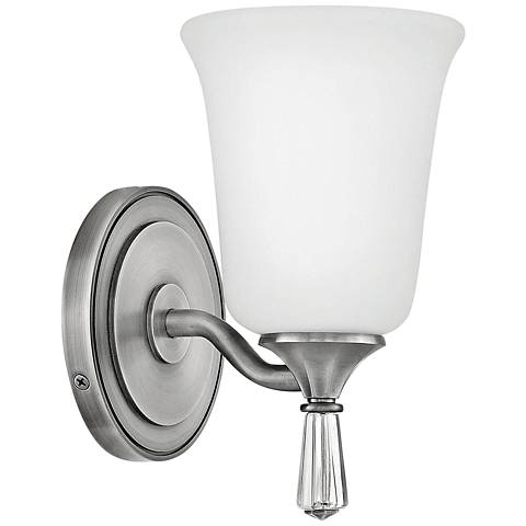"Hinkley Blythe 8 3/4"" High Antique Nickel Wall Sconce"