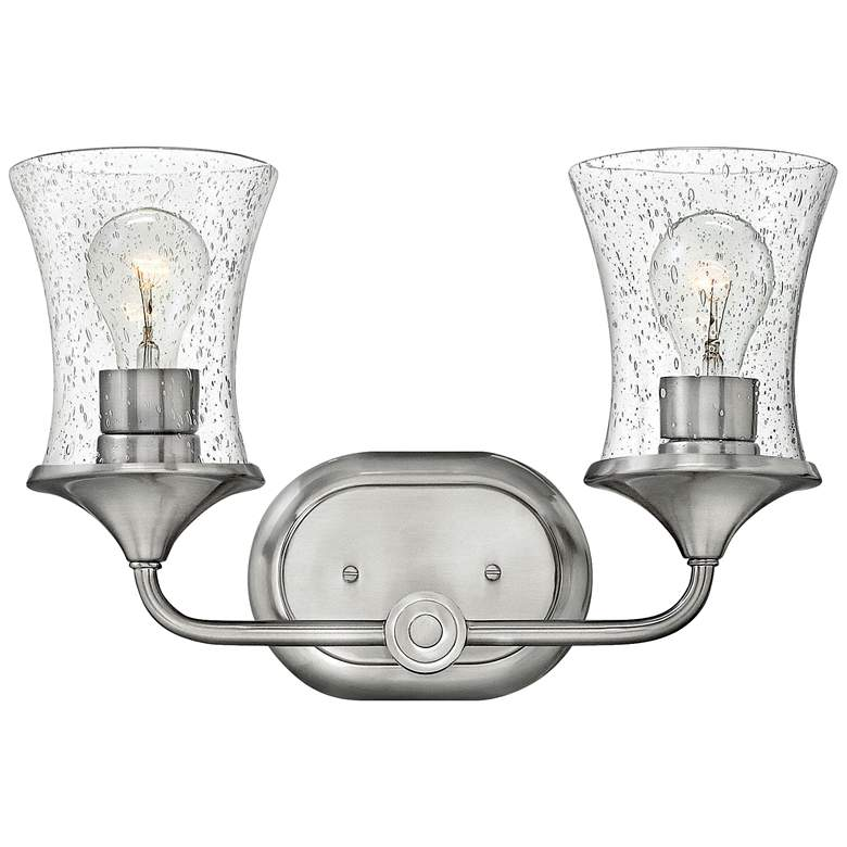 """Thistledown 10 1/2"""" High Brushed Nickel  2-Light Wall Sconce"""