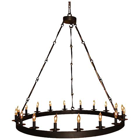 "Laura Lee Toscana 44"" Wide Wax Rust 18-Light Chandelier"