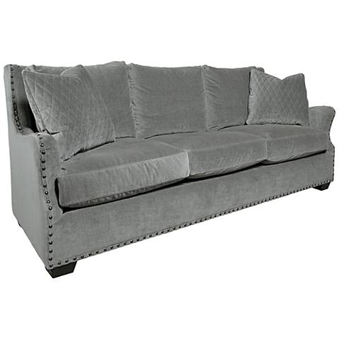 Connor Gray Cloud Velvet 3-Seat Sofa