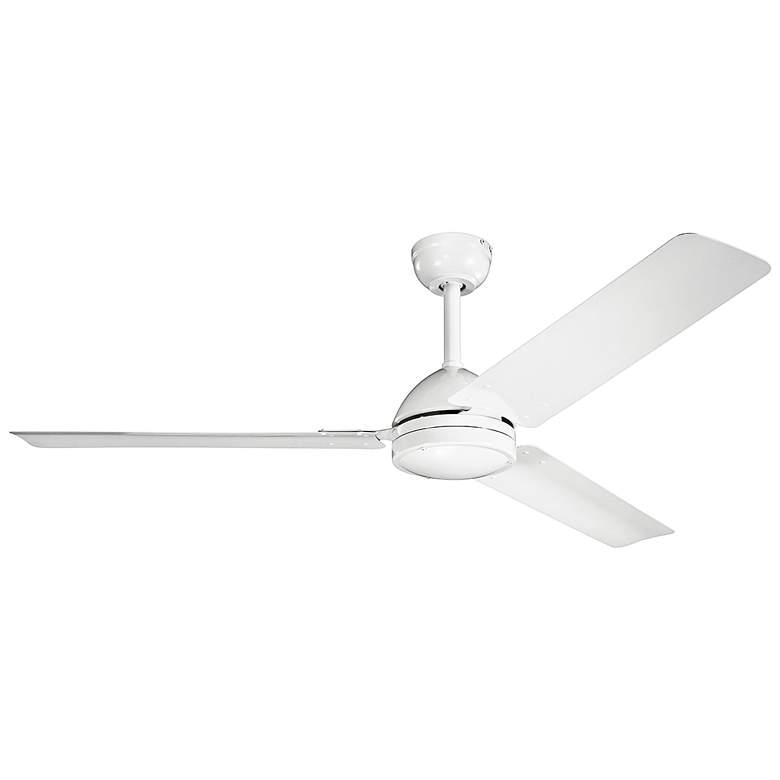 "56"" Kichler Todo™ Textured White Ceiling Fan"