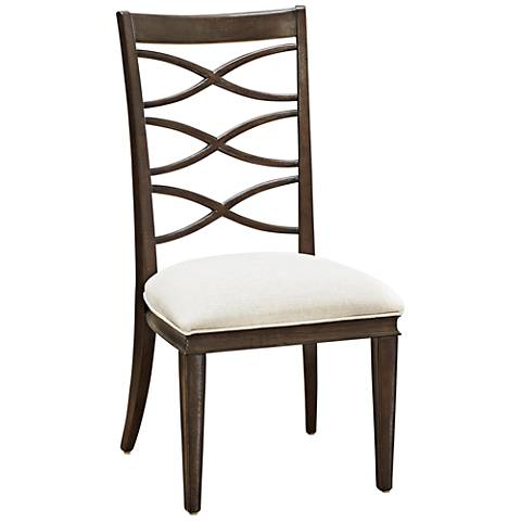California Artisan Sand Fabric X-Back Side Chair