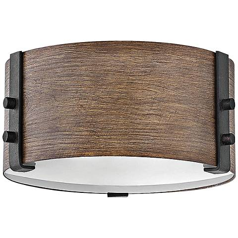 """Hinkley Sawyer 9""""W Sequoia Faux Wood Outdoor Ceiling Light"""