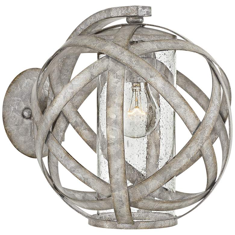 """Hinkley Carson 10 1/2""""H Weathered Zinc Outdoor Wall Light"""