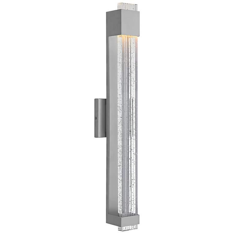 "Hinkley Glacier 28"" High Titanium LED Outdoor Wall Light"