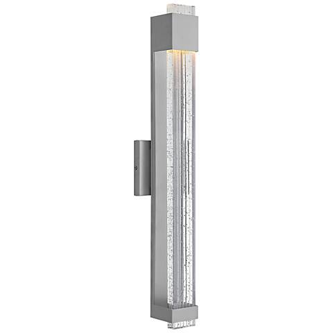 "Hinkley Glacier 28"" High Titanium LED Outdoor Wall Light"