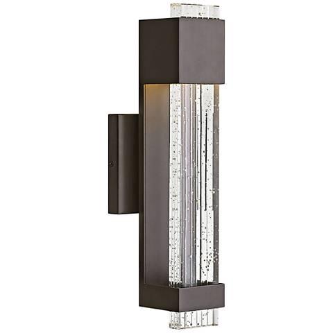 "Hinkley Glacier 15 1/2"" High Bronze LED Outdoor Wall Light"