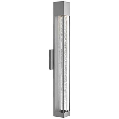 "Hinkley Vapor 28"" High Titanium Outdoor Wall Light"