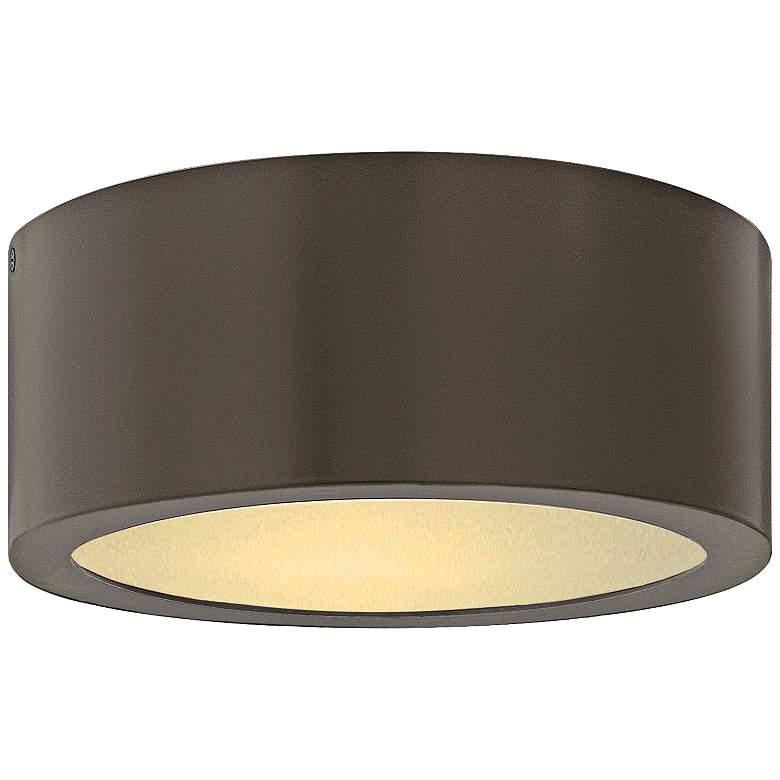 """Hinkley Luna 8"""" Wide Bronze LED Outdoor Ceiling Light"""