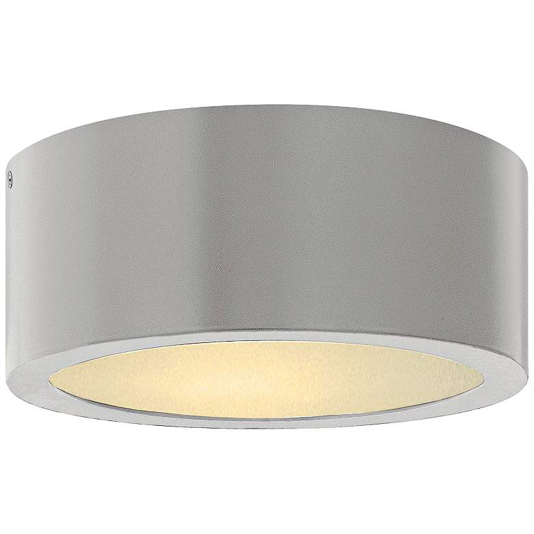 "Hinkley Luna 8"" Wide Titanium LED Outdoor Ceiling"