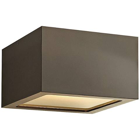"Hinkley Kube 6"" Wide Bronze LED Outdoor Ceiling Light"