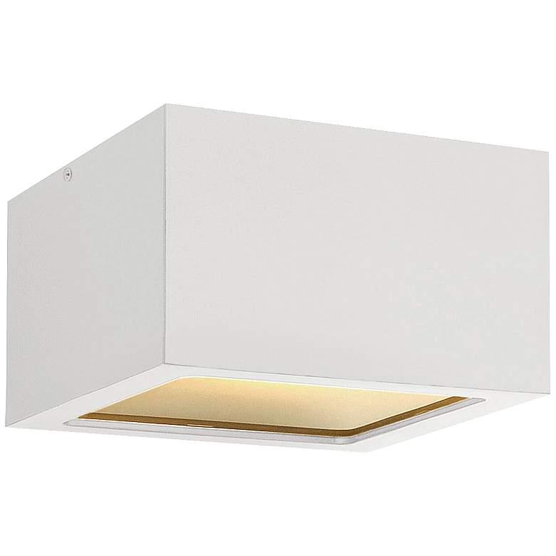 "Hinkley Kube 6"" Wide Satin White LED Outdoor"