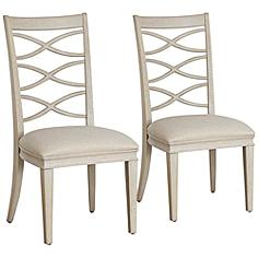 California Artisan Sand Fabric Malibu Side Chairs Set of 2