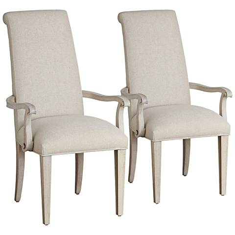 California Artisan Sand Fabric and Malibu Armchairs Set of 2