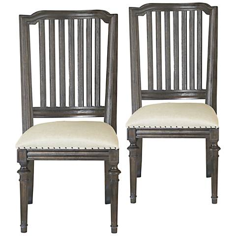 Cafe Artisan Sand Fabric and Studio Accent Chairs Set of 2