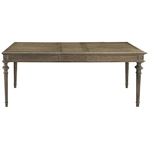Tribeca Brownstone Wood Extension Leg Dining Table
