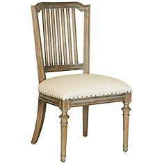 Cafe Artisan Sand Fabric and Brownstone Dining Chair