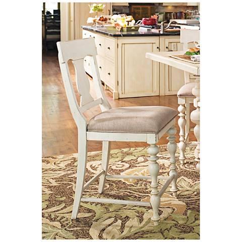 """Paula Deen Home 24"""" Linen Wood Counter Height Chair"""