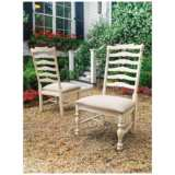 Mike's Linen Wood Side Chair