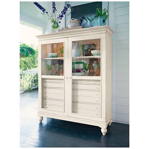 The Bag Lady's Linen Wood 8-Drawer 2-Door Cabinet