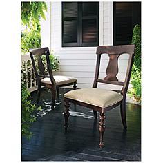 Paula Deen Home Tobacco Wood Side Chair