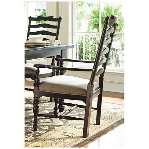 Mike's Claridge Fennel and Tobacco Wood Armchair