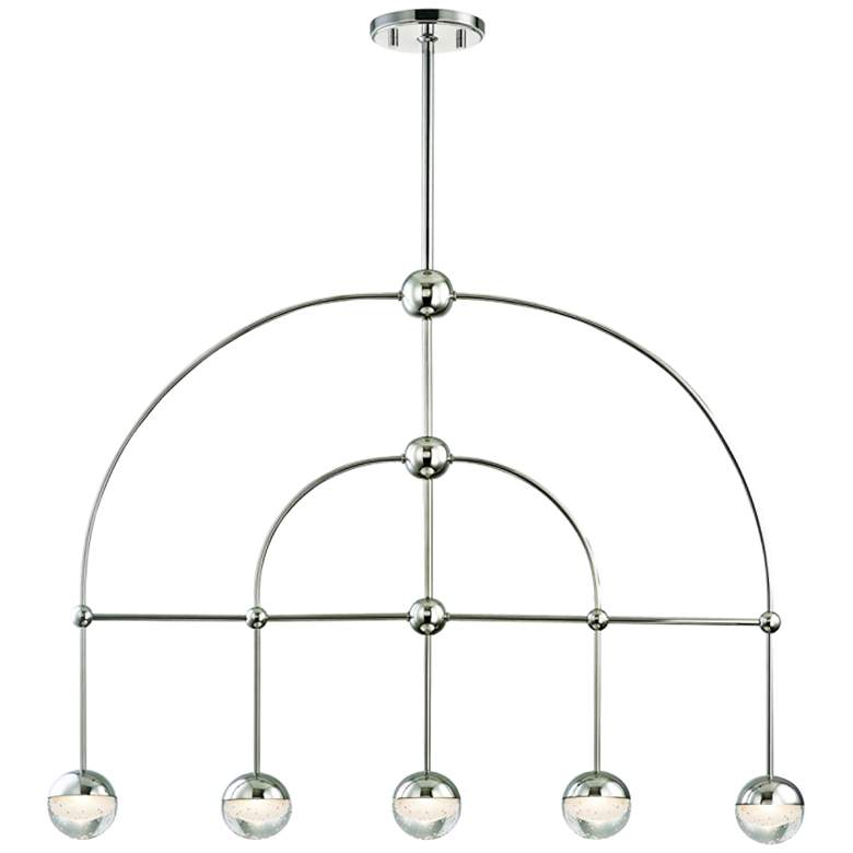 "Boca 39""W Polished Nickel LED Kitchen Island Light"