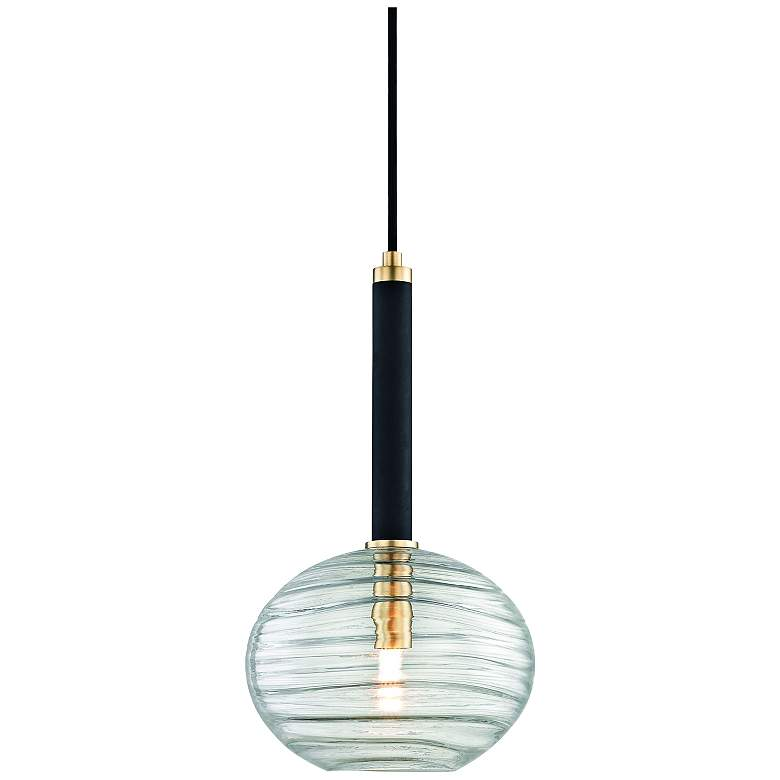 "Hudson Valley Breton 8 1/2"" Wide Aged Brass LED Mini Pendant"