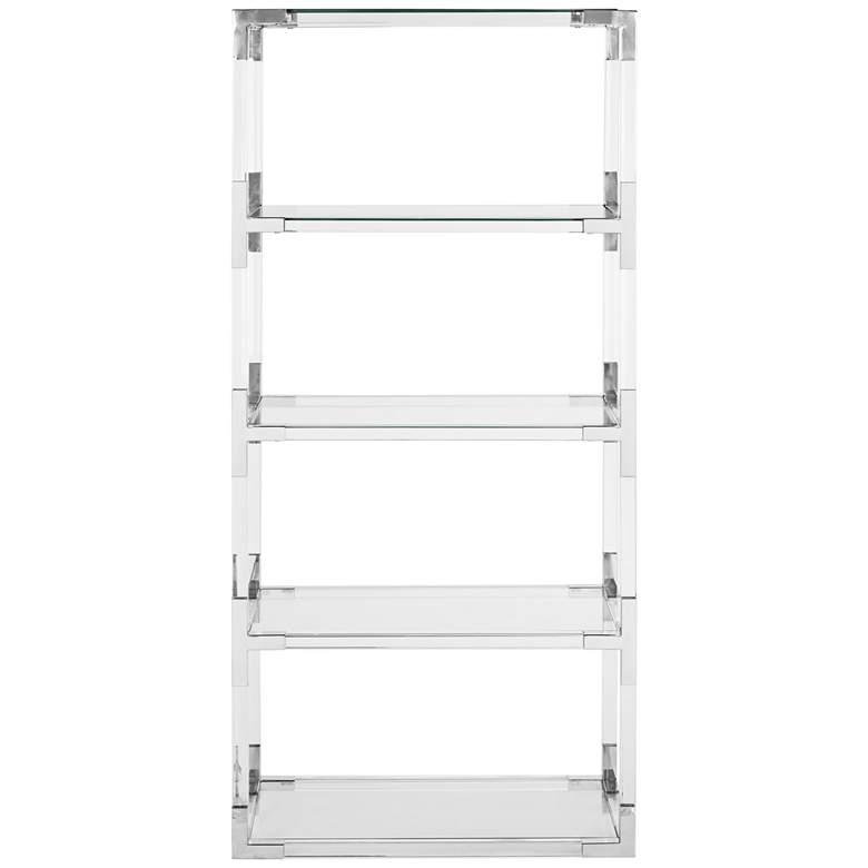 "Hayley 63"" High 4-Shelf Clear Acrylic Open Bookcase"