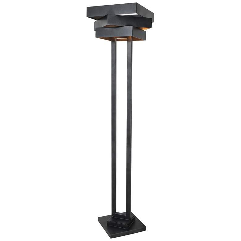 """Van Teal 72"""" High Market Square Weathered Steel Floor Lamp"""