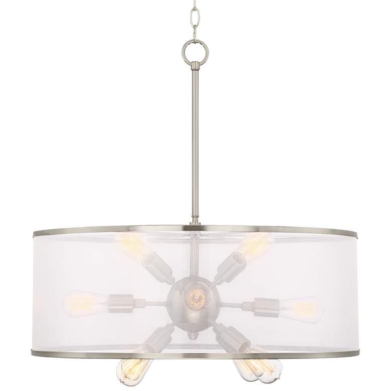 "Possini Euro Taur 27 1/2""W Brushed Nickel LED Pendant Light"