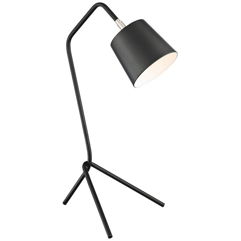 Lite Source Quana Black Metal Tripod Desk Lamp
