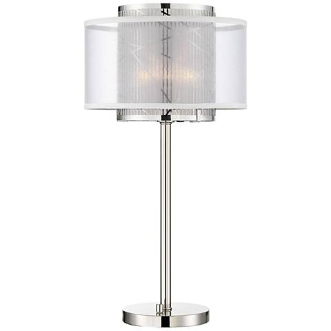 Lite Source Lacole Brushed Nickel Double-Shade Table Lamp
