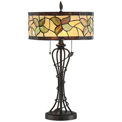 Lite Source Olivia Dark Bronze Tiffany Style Table Lamp