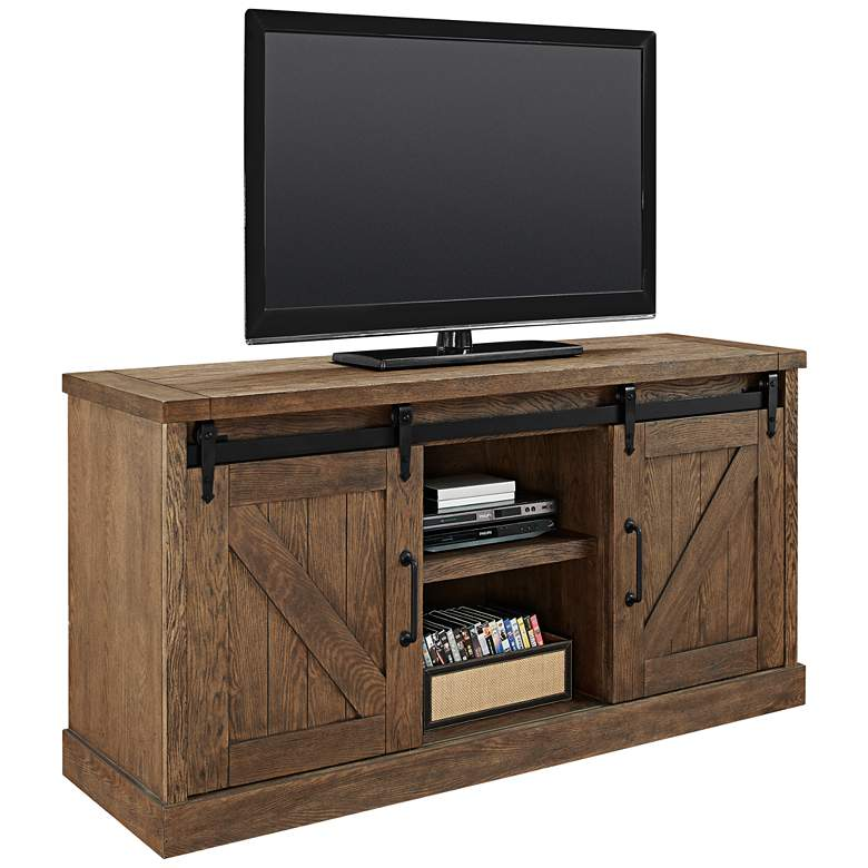 """Avondale 60"""" Wide Weathered Oak 2-Door Credenza or Console"""