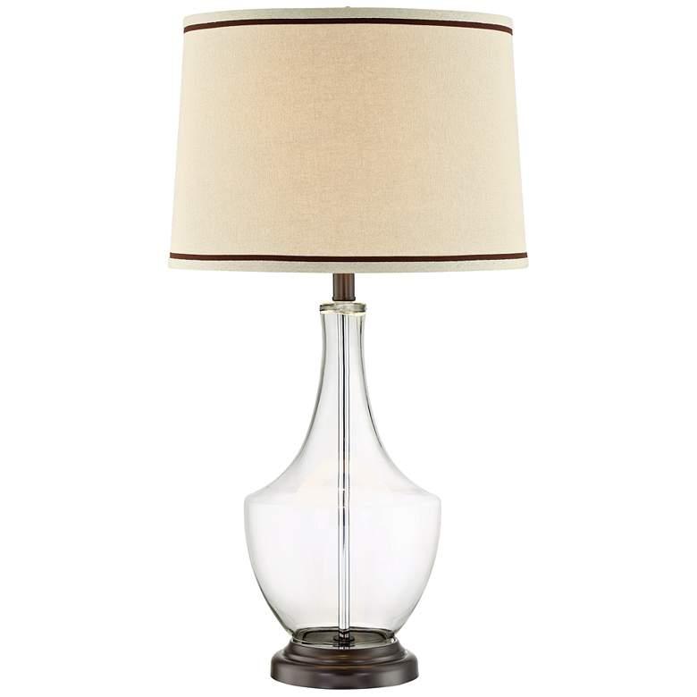 Lite Source Caroline Clear Glass Bottle Table Lamp