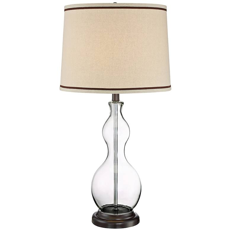 Lite Source Caroline Clear Glass Gourd Table Lamp