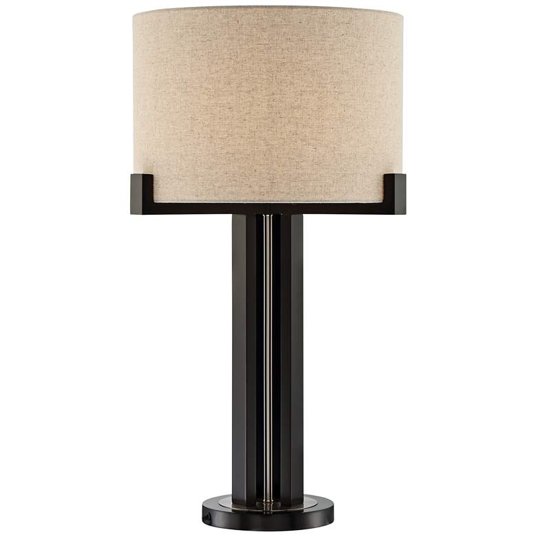 Lite Source Barend Dark Walnut Metal Table Lamp