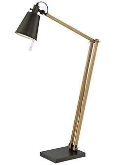 Lite source mid century floor lamps lamps plus lite source pisces light walnut adjustable task floor lamp mozeypictures Choice Image