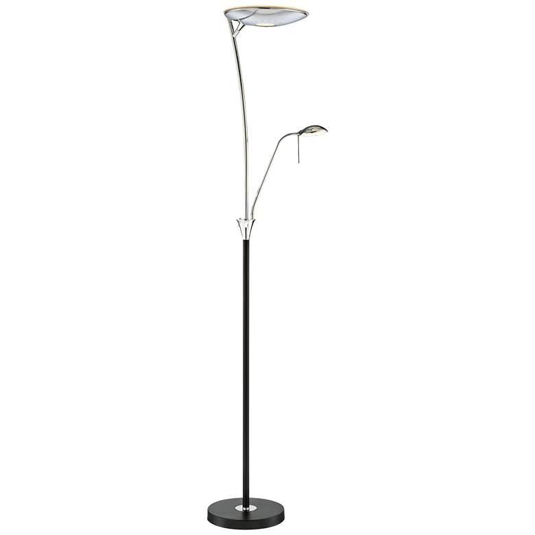 Lite Source Huck Black Metal LED Floor Lamp