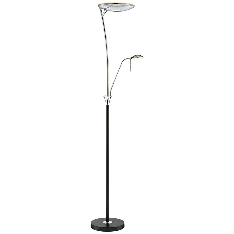 Lite Source Huck Black Metal LED Floor Lamp with Reading Light
