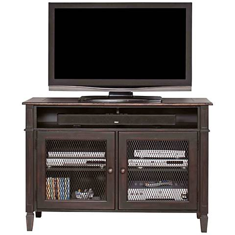 Navarro Two-Toned Aged Clove 2-Door Wood TV Stand